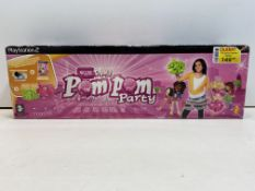 1 x Sony Play Station 2 Pom Pom Party Eye Toy Game PS2 PAL Game & Poms | 711719753759