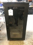 Glass Fronted Mobile Server Cabinet - 125cm x 60cm | ** NO KEY **