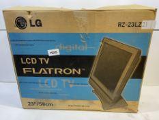 "LG RZ-23LZ21 23"" LCD Television   ** NO REMOTE CONTROL **"