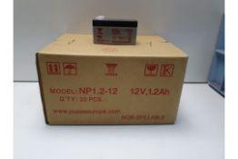 YUASA - NP1.2-12 lead acid batteries (100) (RRP £15 Each)