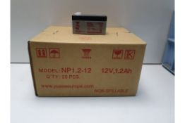 YUASA - NP1.2-12 lead acid batteries (140) (RRP £15 Each)