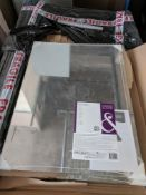 150 x Cooke & Lewis Wall Mirrors New and Sealed | RRP £2,000