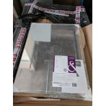 150 x Cooke & Lewis Wall Mirrors New and Sealed   RRP £2,000