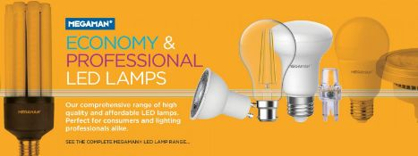 Approx. 10,000 Brand New Megaman LED Bulbs | Approx RRP £50,000+