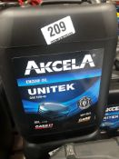 3 x 20L Drums of Akcela MAT 3521 Unitek SAE 10W-40 Engine Oil