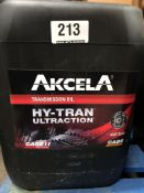 4 x 20L Drums of Akcela MAT 3540 Hy-Tran Ultraction Transmission Oil