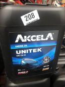4 x 20L Drums of Akcela MAT 3521 Unitek SAE 10W-40 Engine Oil