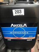 4 x 20L Drums of Akcela MS 216 AW Hydraulic Fluid 46