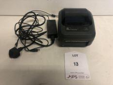 Zebra GK420d Label/Barcode Printer w/ Power Lead & USB Cable