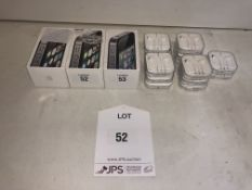 3 x Apple iPhone 4s Mobile Phones w/ 14 x Pairs of Earphones