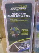 250 x Brookstone 120pc Car Fuse Set in Box | Total RRP £1,997