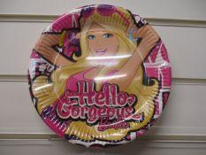 1000 x Barbie Design Disposable Party Plates