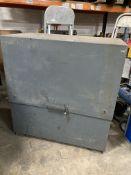 Lockable Steel Storage Unit Piston Assisted Hatch