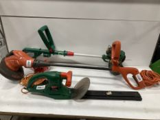 3 x Various Electrical Garden Appliances | Trimmers | Hedge Trimmer | 240v