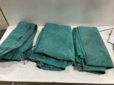 4 x Fire Retardant Welding Blankets/Screens w/ Ring Loops