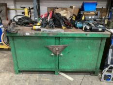 Steel Storage Unit/Table w/ Record No3 Mounted Vice
