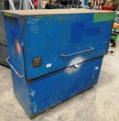 Steel Storage Unit w/ Piston Assisted Hatch
