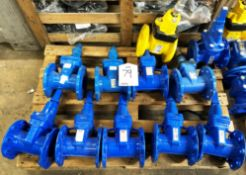 11 x Various Resilient DN80 Seated Gate Valves - As Pictured - RRP£1,000+