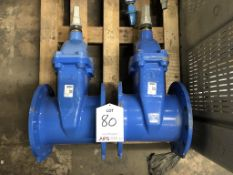 2 x AEON Resilient DN200 Seated Gate Valves - As Pictured - RRP£500+