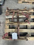 7 x Various Ratchet Loadbinders w/ Grab Hooks