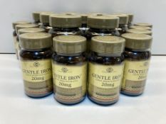 20 x Bottles of Gentle Iron (Iron Bisglycinate) 20mg Vegetable Capsules As Per Description