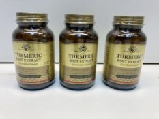 3 x Bottles of Turmeric Root Extract Vegetable Capsules