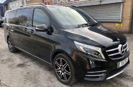 Black Mercedes-Benz V250 D AMG Line Auto Minibus | 2018 | 8 Seater | 122,047 Miles