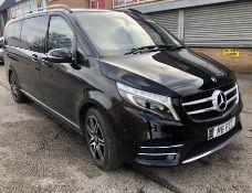 Black Mercedes-Benz V250 D AMG Line Auto Minibus | 2018 | 8 Seater | 59,442 Miles