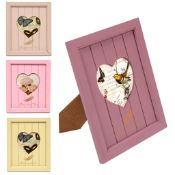 1000 x Wooden Photo Frame | Heart Design | Assorted Colours