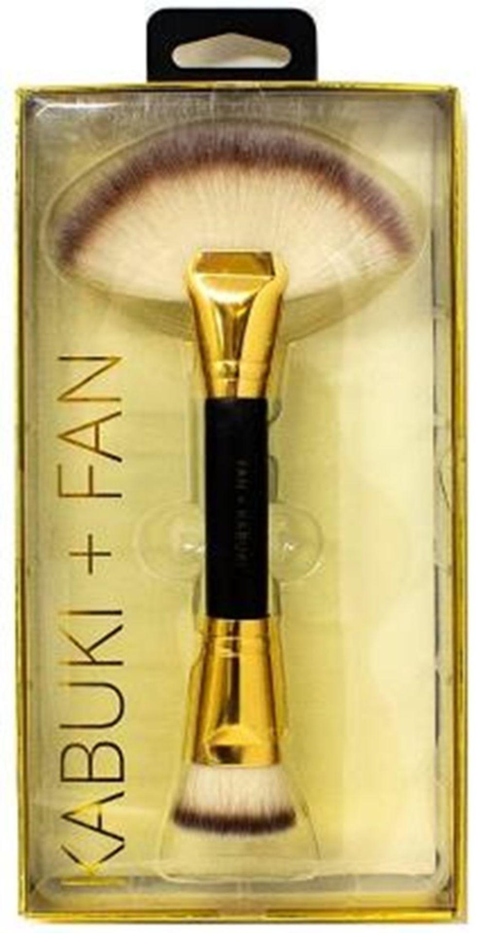 100 x Dual End Kabuki & Fan Make-Up Brush | Total RRP £999