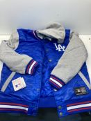 Majestic LA Dodgers Letterman Jacket | Blue | Size: L