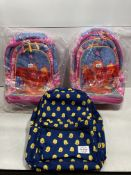3 x Children's Backpacks | See description and photographs