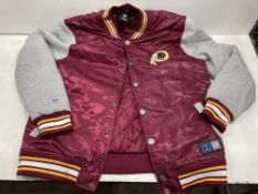 NFL Redskins Padded Jacket | Burgundy | Size: L