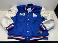 Majestic LA Dodgers Letterman Jacket | Blue | Size: XXL