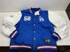 Majestic LA Dodgers Letterman Jacket | Blue | Size: XL