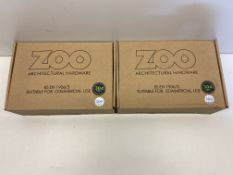 2 x Zoo Hardware Door Handle Set | ZCSIP19SP