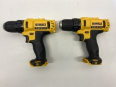 2 x DeWalt DCD710 10.8V XR Cordless Compact Drill Driver | Body Only