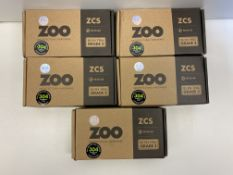 5 x Zoo Hardware Sets of Door Handles | ZCS030SS