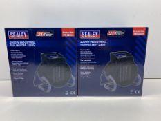 Pair Of Sealey Industrial PTC Fan Heater | PEH2001 | RRP £66.80
