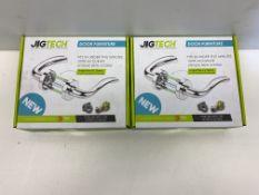 2 x Jigtech Eden Premium Door Handles Pack   Hinge and Latch Pack