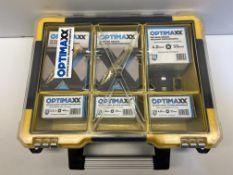 Optimaxx Premium Wood 1200 Piece Screw Selection in Case + Optimaxx 25M/25mm Tape Measure