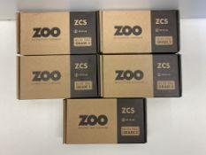 5 x Zoo Hardware Door Handle Set   ZCS010SS