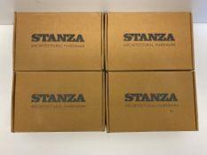 4 x Zoo Hardware Toledo Door Handles on Bathroom Backplate   ZCZ033CP