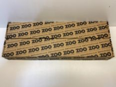 10 x Zoo Hardware 600mm Satin Stainless Bolt Through Mitred Pull Handle   ZCS2M600BS
