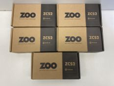 5 x Zoo Hardware Door Handle Set | ZCS2130SS