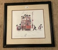 Francis Lennon Signed Artists Print Our Rainy Manchester  1/400