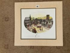 Francis Lennon Mounted Signed Artists Print | Village Day