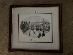 Francis Lennon Signed Artists Print The Bridge Inn Hayfield | 1/400