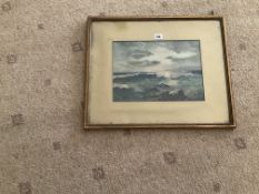 Watercolour of a Rough Sea Scene | Signed by M Fink | 1913