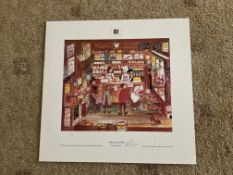 Francis Lennon Signed Artists Print   Open All Hours